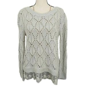 Hinge Loose Knit Button Cardigan Sweater S